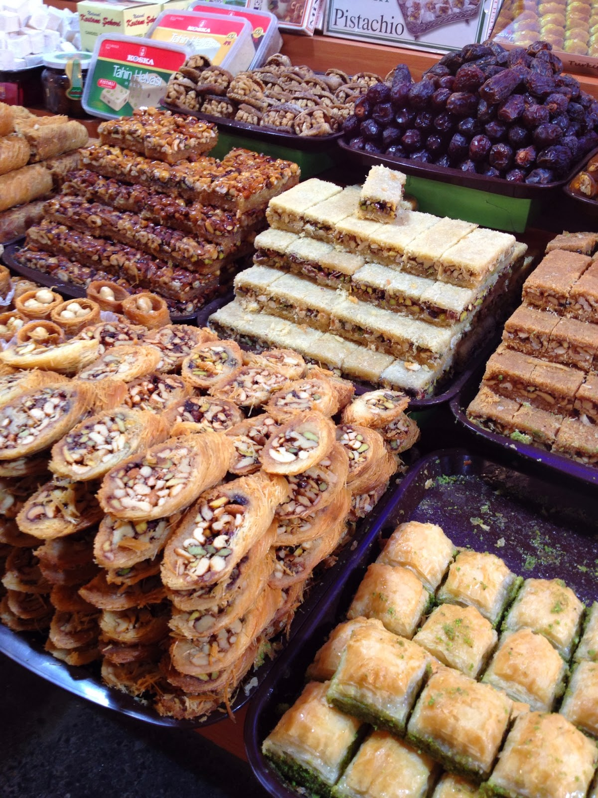Istanbul - The Spice Bazaar is know for dried fruit, nuts, candy, and of course, spices