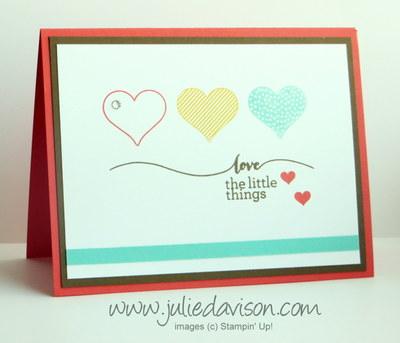 Occasions Catalog Hello Life Valentine Card #stampinup www.juliedavison.com