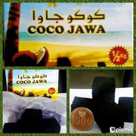 coconut shell charcoal briquette from Indonesia that named coco jawa