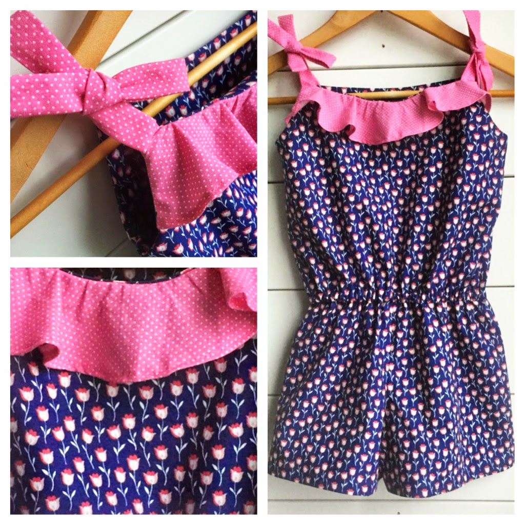 sewing girls romper pattern
