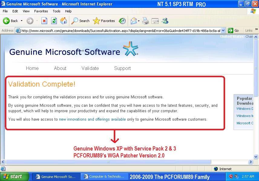 Windows xp genuine patch install fix download
