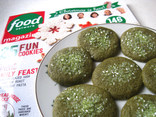 Tea with friends green tea cookies from food network magazine i do like to purchase the christmas issue of food network magazine each year because it usually features some new cookie recipes and this weekend forumfinder Gallery