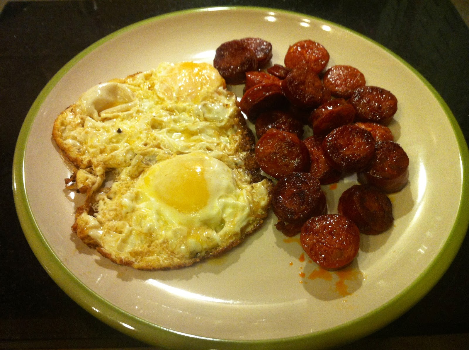 ... Cuisine: 17 - FRIED EGGS AND CHORIZO (HUEVOS FRITOS CON CHORIZO