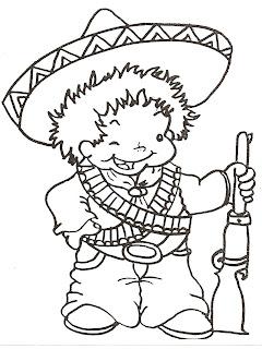 Dibujo de revolucionario Revolución Mexicana para colorear