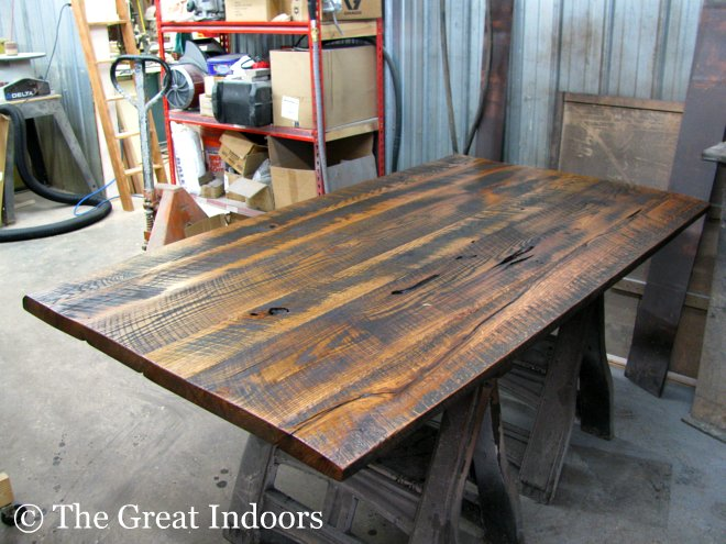 . The Great Indoors  Our Reclaimed Barnwood Table
