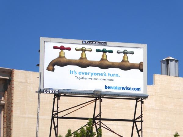 It's everyone's turn Be water wise billboard