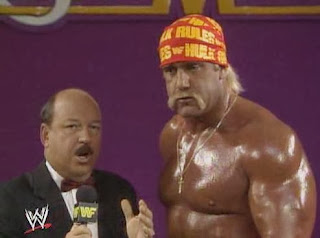 WWF / WWE: Wrestlemania 5 - Hulk Hogan talks to Mean Gene about his WWF title match against Macho Man Randy Savage