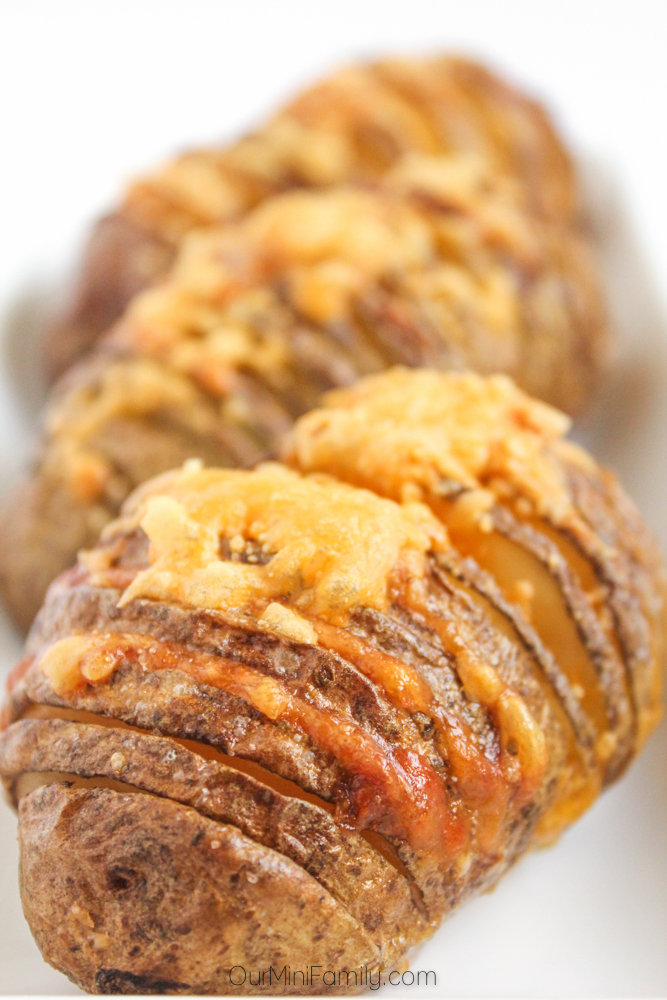 cheesy hasselback potatoes our mini family