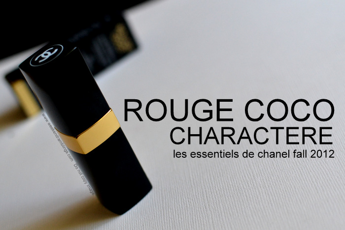 Les Essentiels de Chanel Rouge Coco Lipstick Charactere Fall 2012 Makeup Collection Beauty Blog Reviews Swatches FOTD Looks