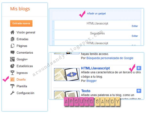 tutorial cómo crear menú con imagenes blogger