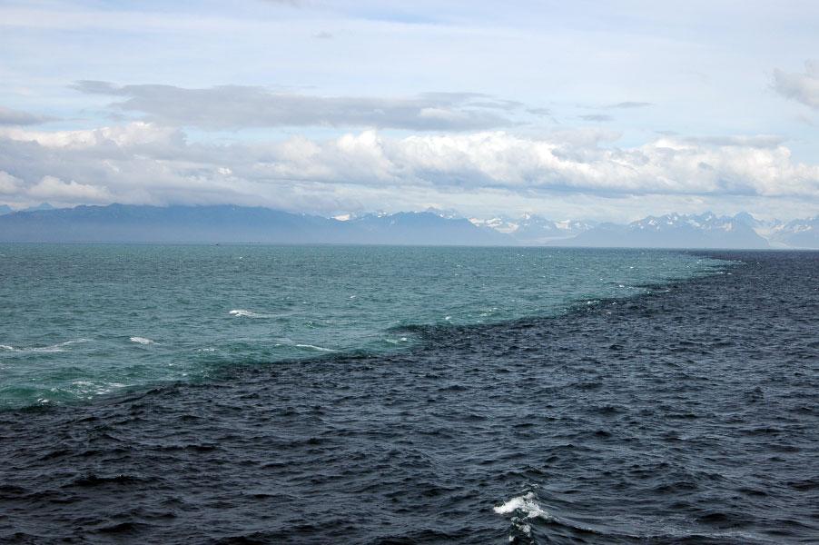 the gulf of alaska were two oceans meet