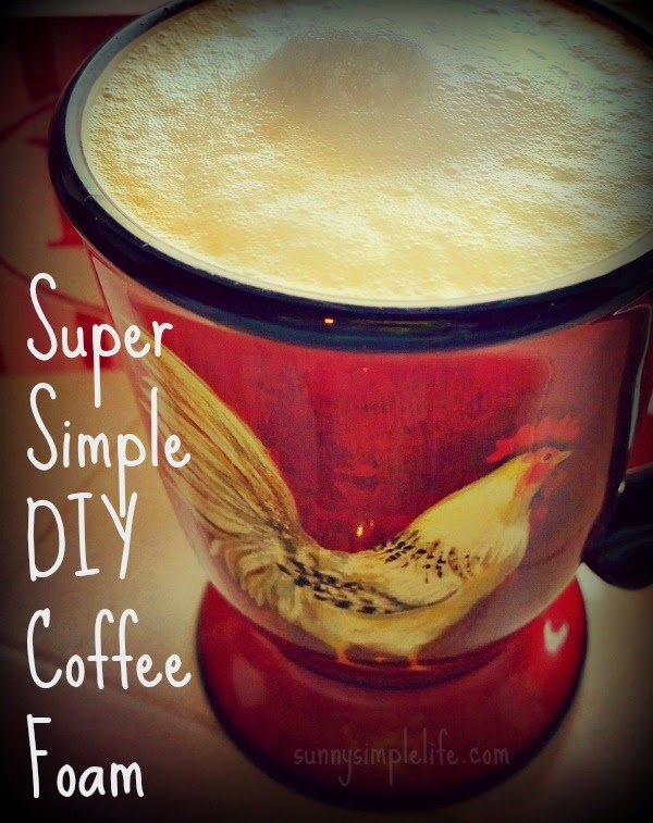 make your own coffee foam, DIY, recipe, coffee