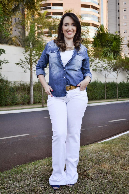 camisa jeans, calça flare branca, como usar calça branca, como usar camisa jeans, como usar, tendências 2015, blog de moda de ribeirão preto, blog camila andrade