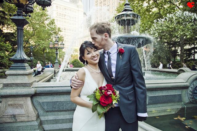 City Hall Park Chinatown Nyc Wedding Of Angela Shane
