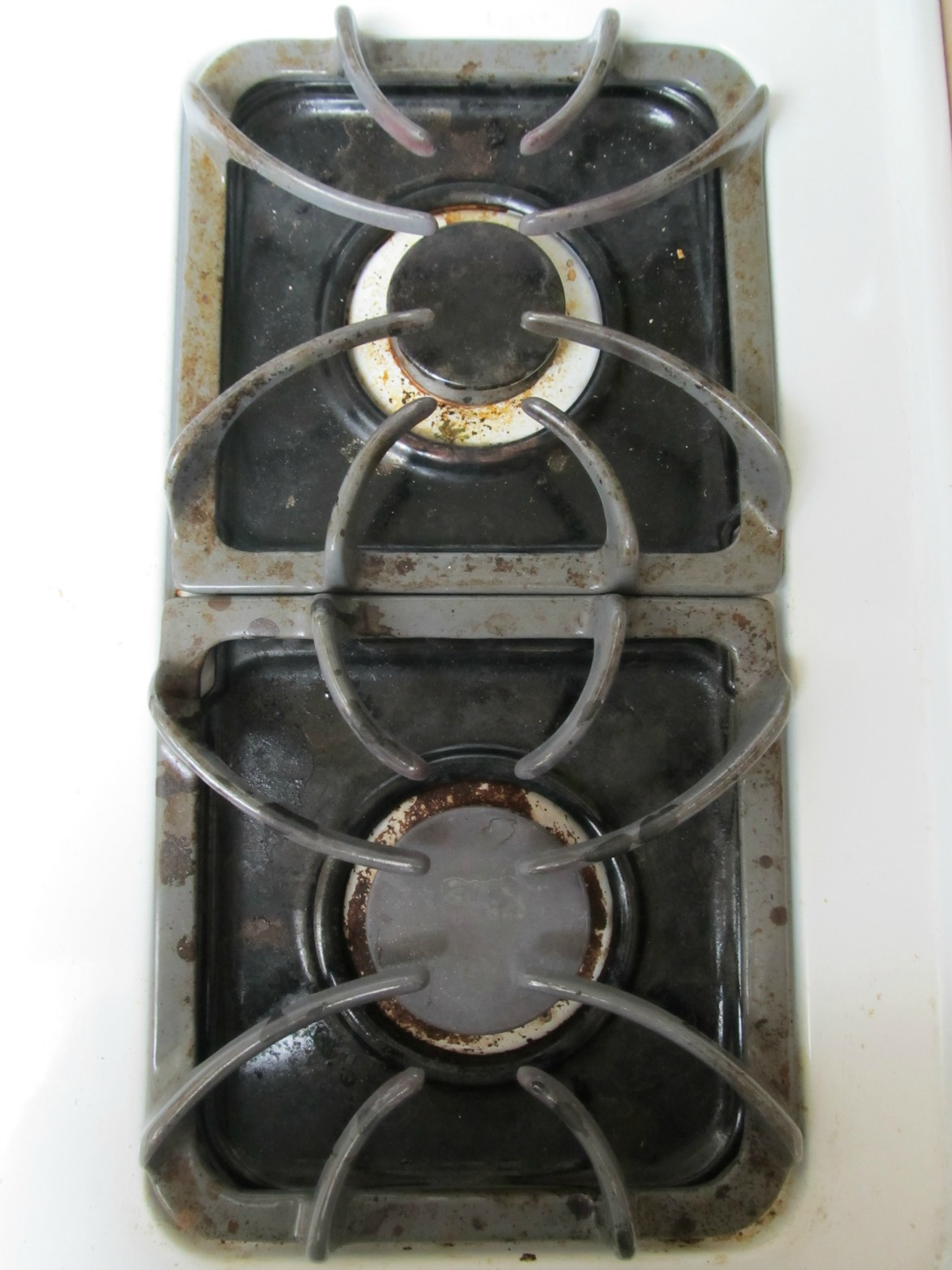how to clean gas stove burners with ammonia