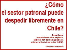 Libre despido en Chile.