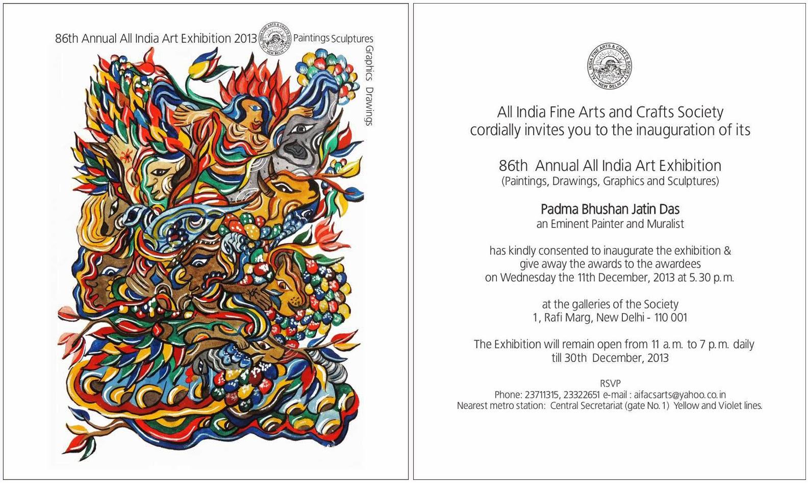Aifacs 86th Annual All India Art Exhibition 2013