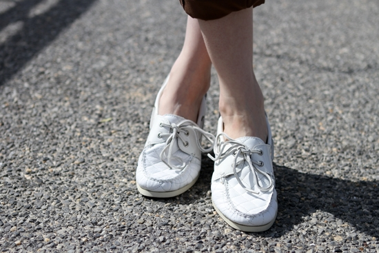 Sperry Top-Sider White Quilted Shoes 