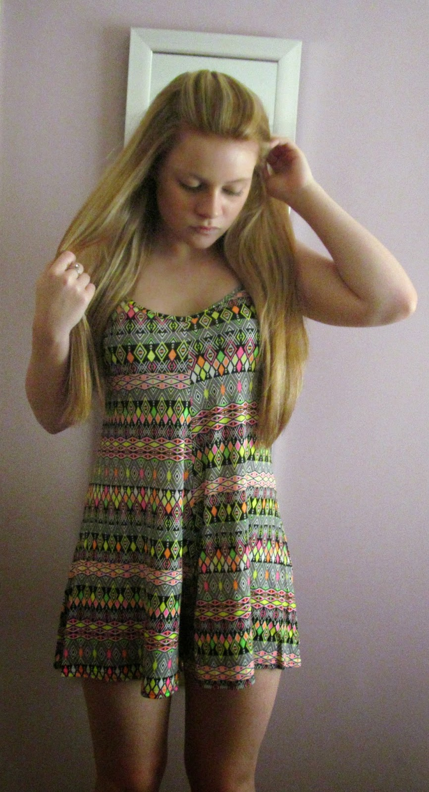 boohoo aztec playsuit