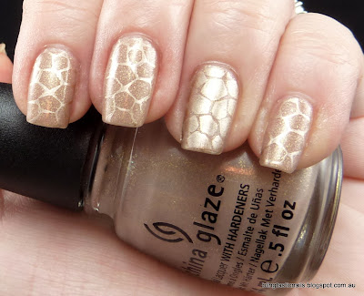 China Glaze Fast track with gold stamping