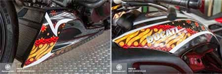 gambar motor sport Ducati versi batik