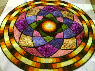 rangoli or pookalam design