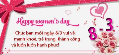 Thiệp đẹp chúc mừng ngày quốc tế phụ nữ 2015