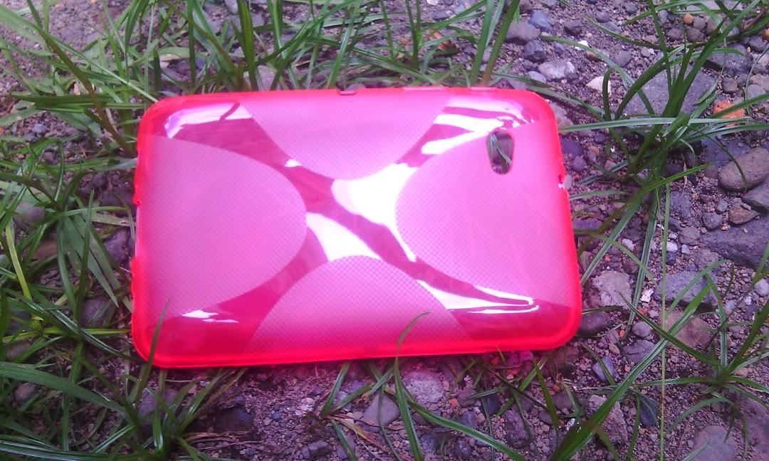 X Shape Line TPU Jelly Case For Samsung Galaxy Tab 7 Plus P6200, Galaxy Tab 2 7 P3100 P3110 - Pink Transparant