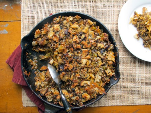 Lentil and Cabbage Skillet Bake