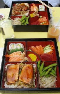 Two Japanese lunch boxes
