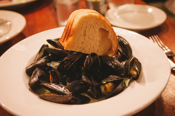 mussels during restaurant week at Table 3 in Nashville Tennessee