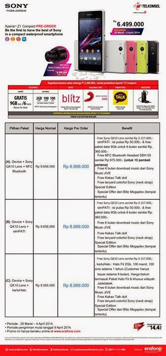 Promo Sony Xperia Z1 Compact Pre Order
