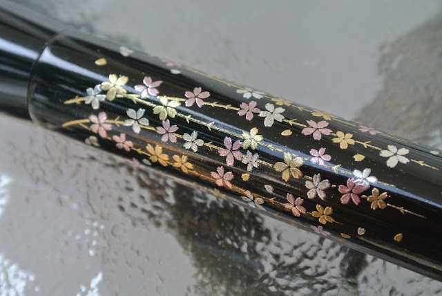 Close Up of Cherry Blossom Detail on Powder Brush