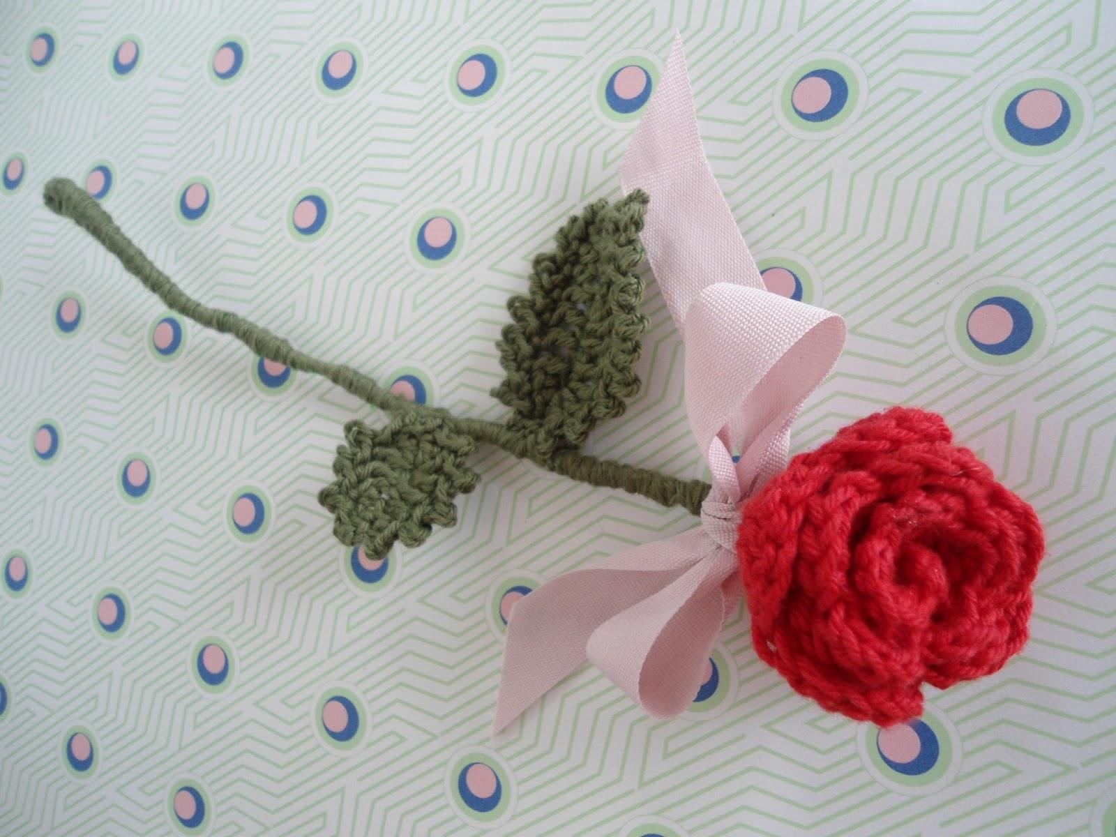 hæklede roser opskrift