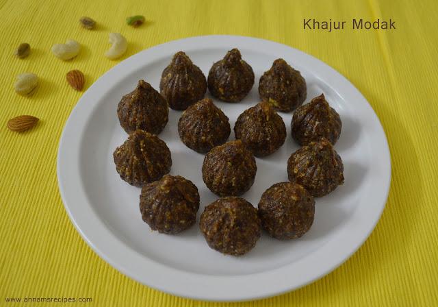 Khajur Modak / Dry Fruit Modak