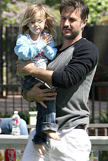 Actor David Arquette and his daughter Coco