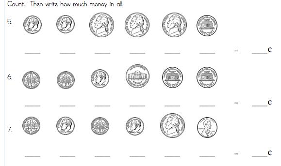 1st Grade Money Worksheets Davezan – Free Math Money Worksheets