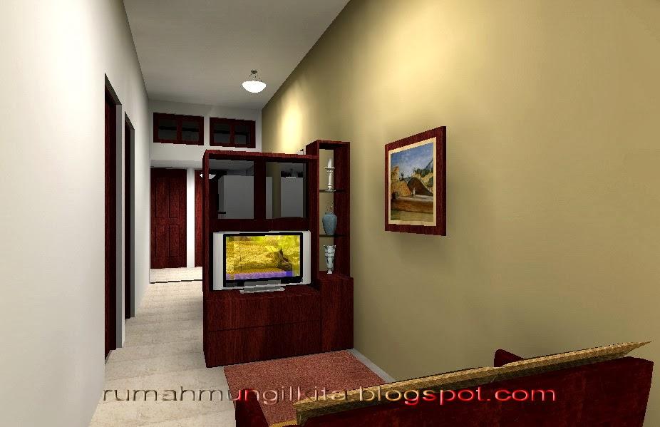rumah lebar 4 meter, 3 kamar tidur - ruang keluarga