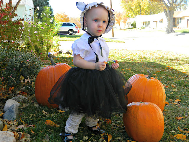 vintage handmade gothic tutu fox baby girl costume Just Peachy, Darling
