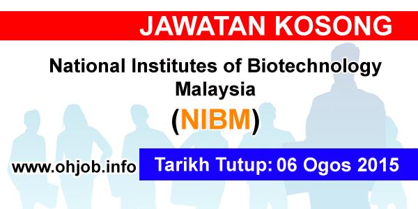Jawatan Kerja Kosong National Institutes of Biotechnology Malaysia (NIBM) logo www.ohjob.info ogos 2015