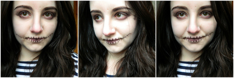 Easy Halloween Makeup: Skull