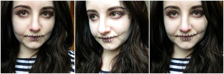 Easy Halloween Makeup: Skull