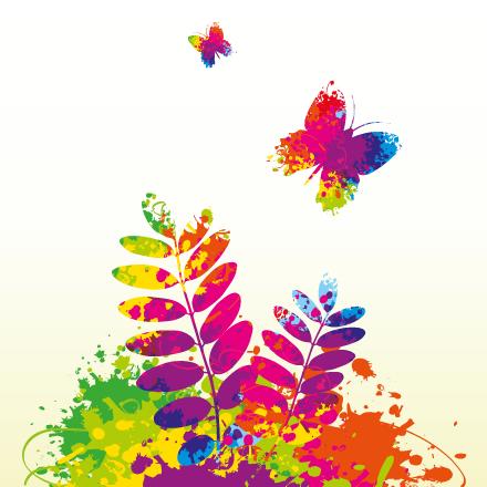 Detalle de naturaleza a todo color - Vector
