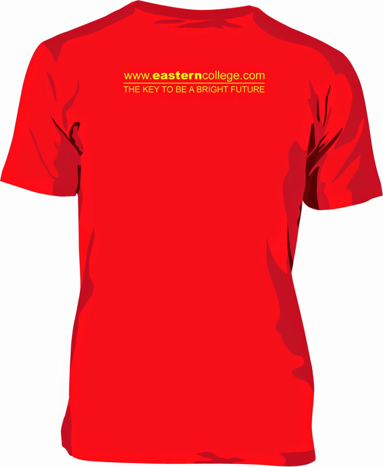 Design t shirt rewang - Cetakan 1 Warna Bahagian Belakang