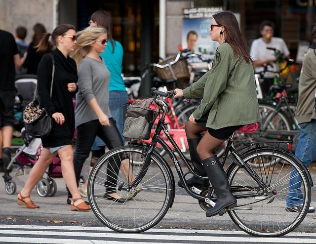 Andar de bicicleta é chic