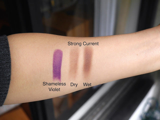 estee lauder pure envy matte lipstick shameless violet pure envy eye defining single eyeshadow strong currant swatch review