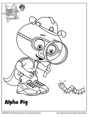 LAMINAS PARA COLOREAR - COLORING PAGES: Super Why para dibujar ...