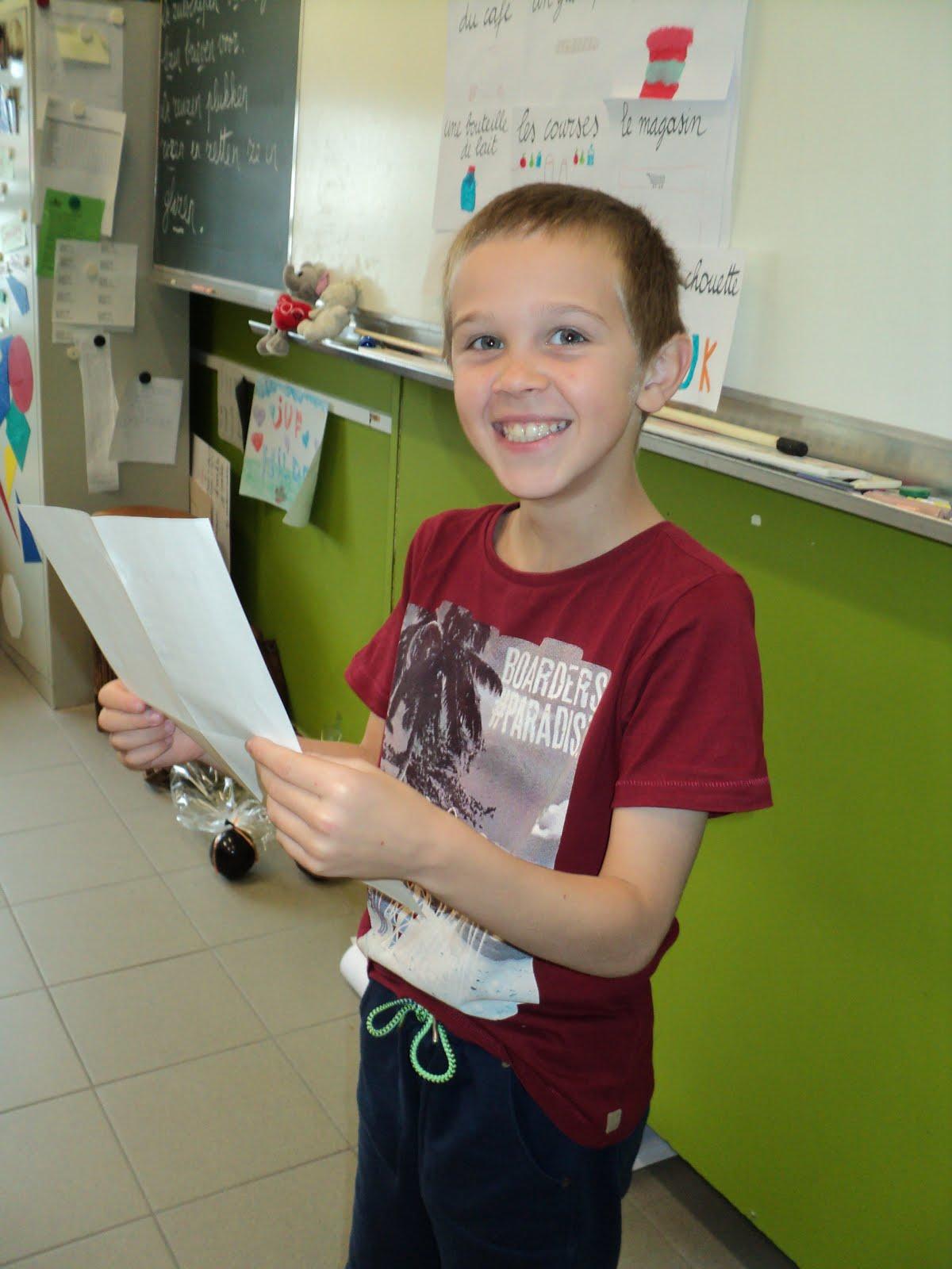 Leerling van de week : Pieter!