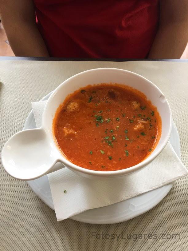 Sopa del día del restaurante Brasserie Belga