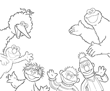 #7 Sesame Street Coloring Page
